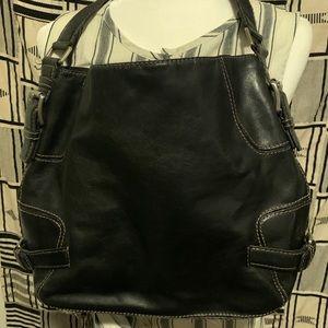 Michael Kors Vintage Black Shoulder Satchel Bag